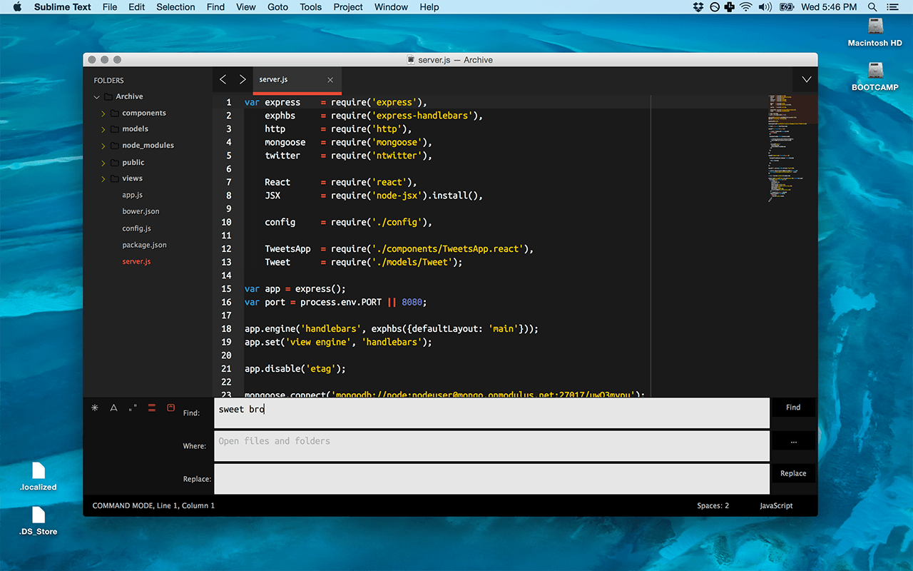 Тема для Sublime Text Brogrammer