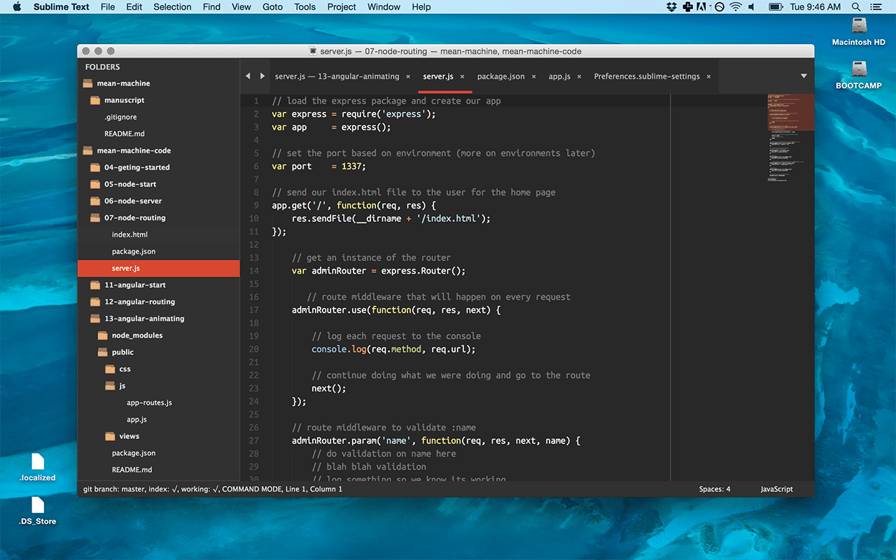 Тема для Sublime Text Numix