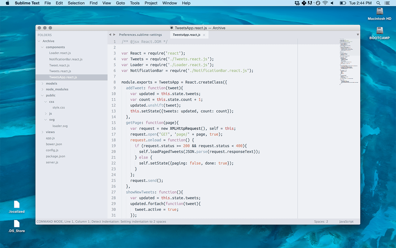 Тема для Sublime Text Spacegray